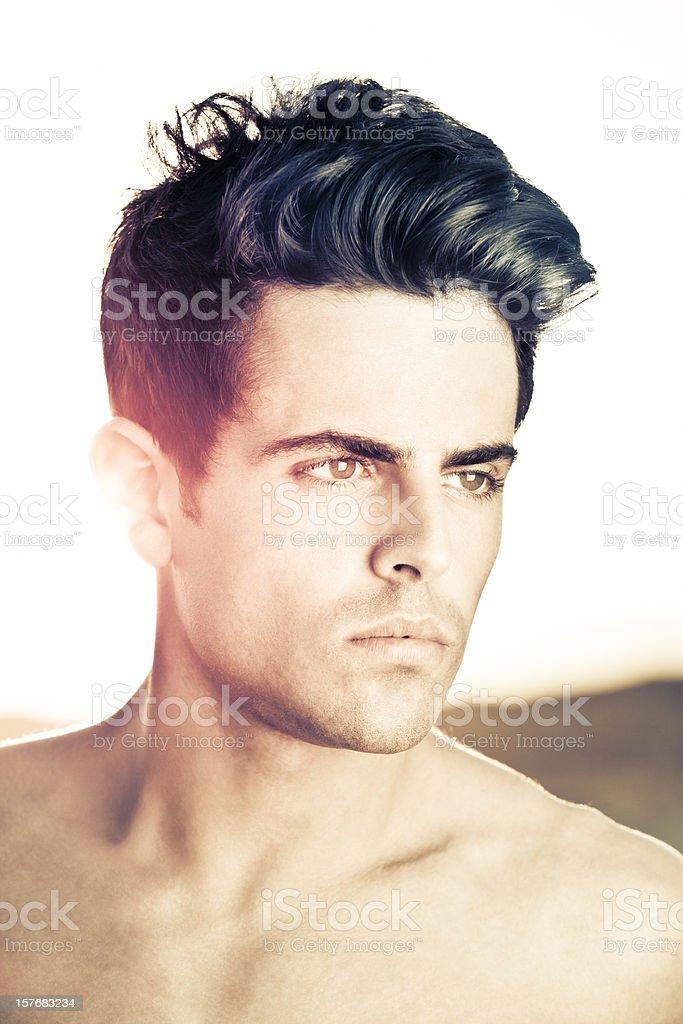 Men hairstyle royalty-free stock photo