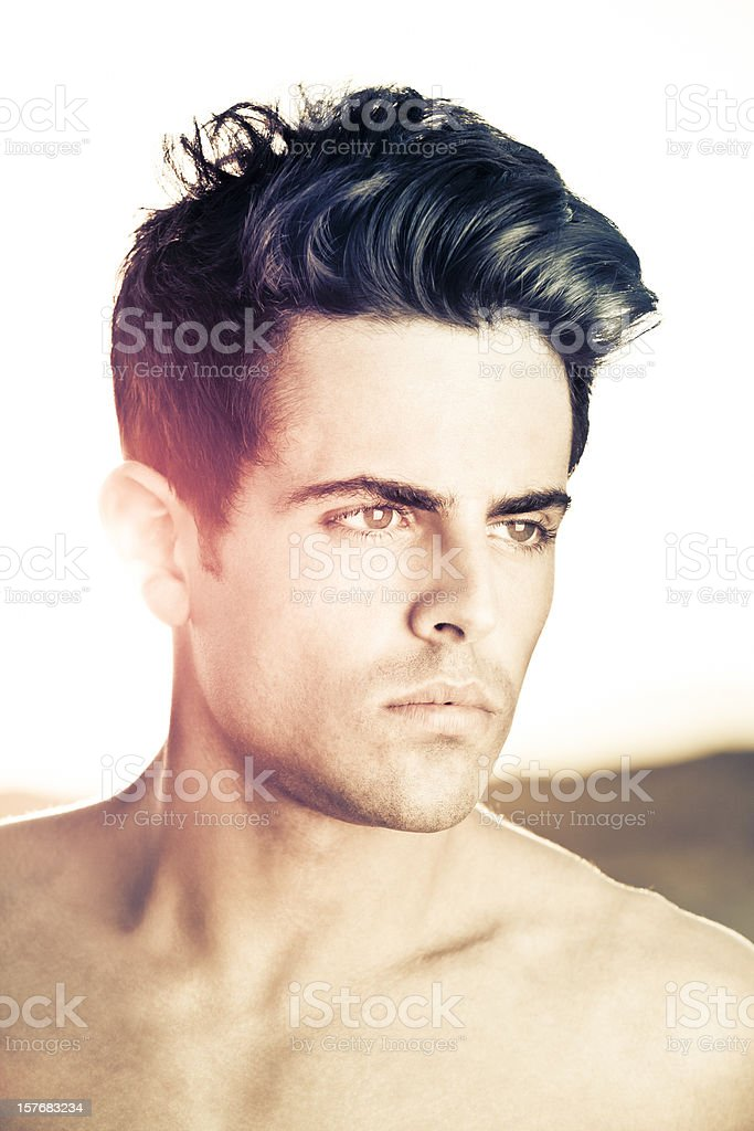 Men hairstyle stock photo