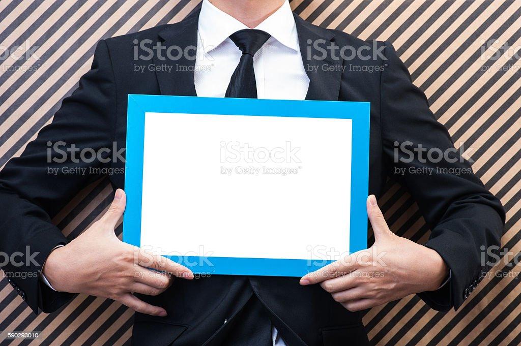 Men have a frame royaltyfri bildbanksbilder