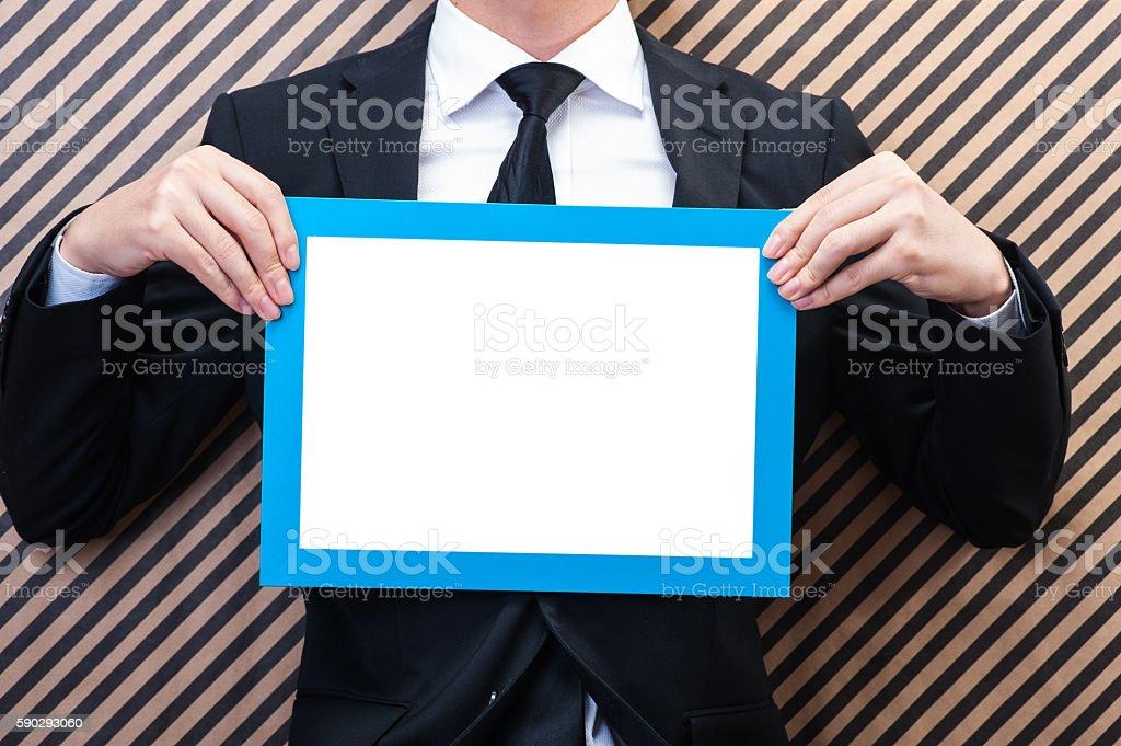 Men have a frame Стоковые фото Стоковая фотография