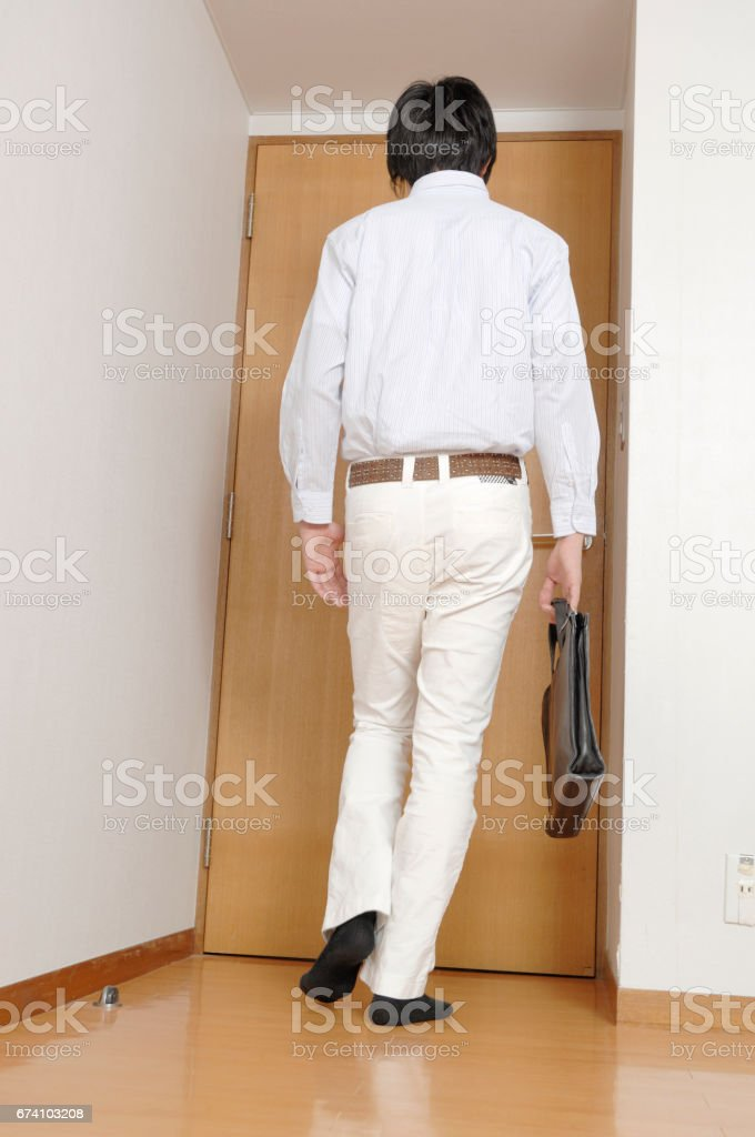 Men head to the company staff royalty-free stock photo