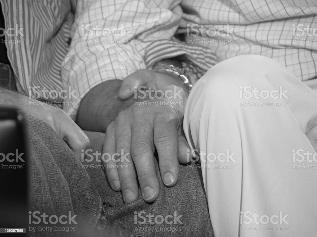 Men holding hands royalty-free stock photo