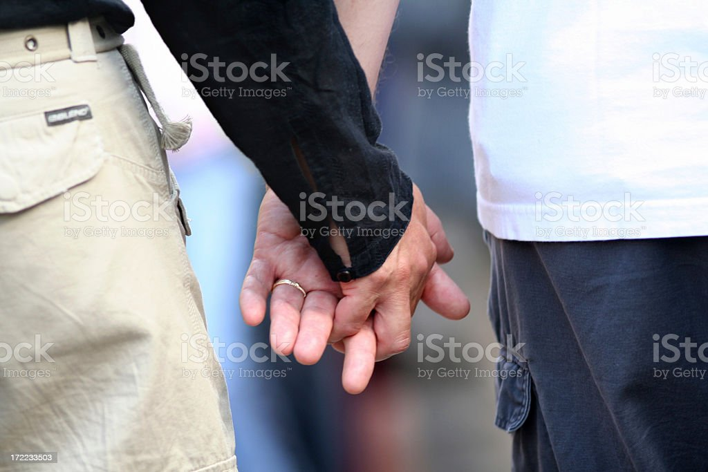 Men Holding Hands #2 royalty-free stock photo