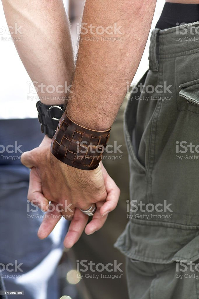 Men Holding Hands #3 royalty-free stock photo
