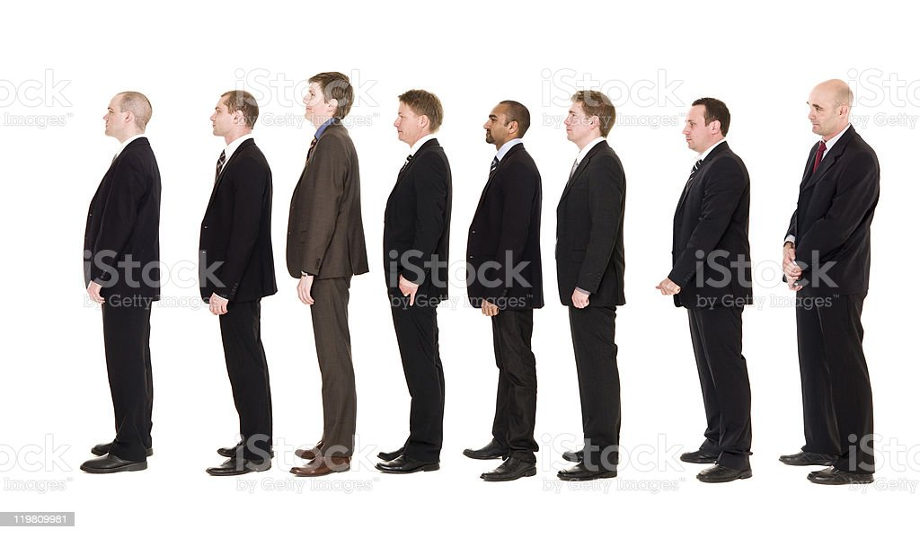 Men in line royalty-free stock photo