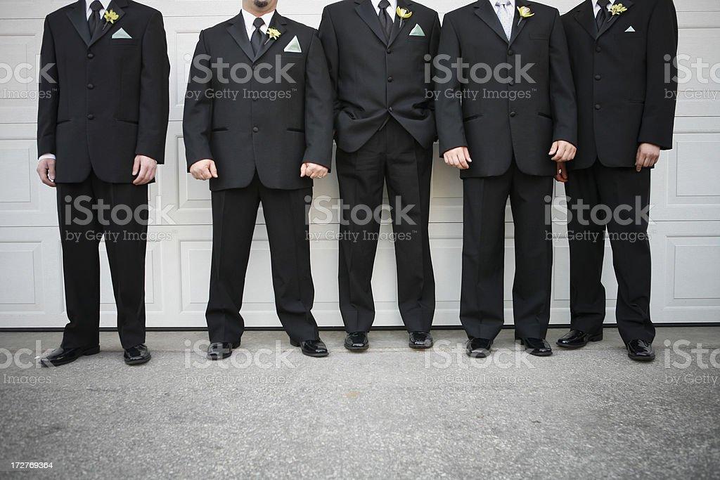 Hombres en línea - foto de stock