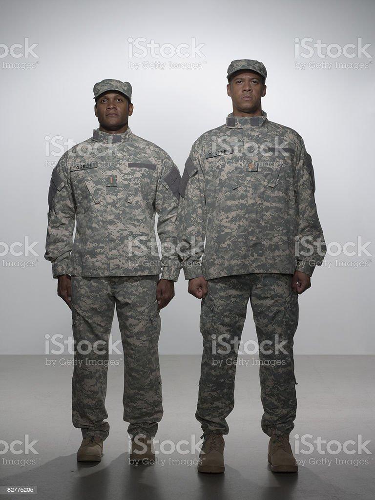 men in military uniform royalty free stockfoto