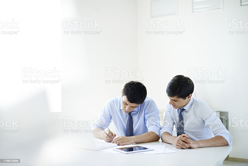Men in office royalty-free stock photo