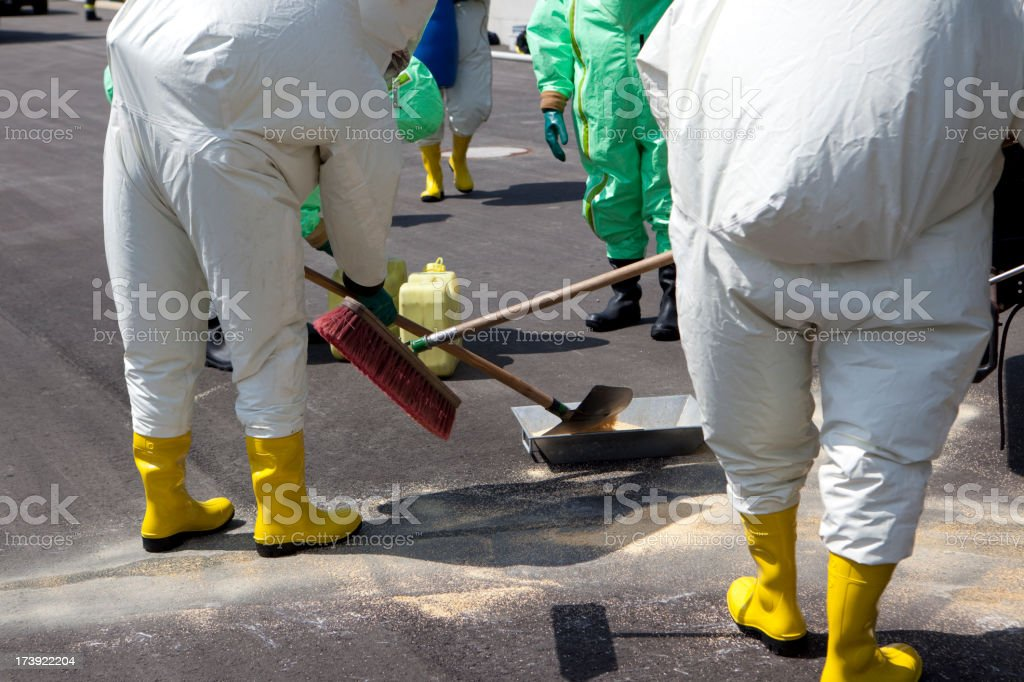 Men in protective gear royalty-free stock photo