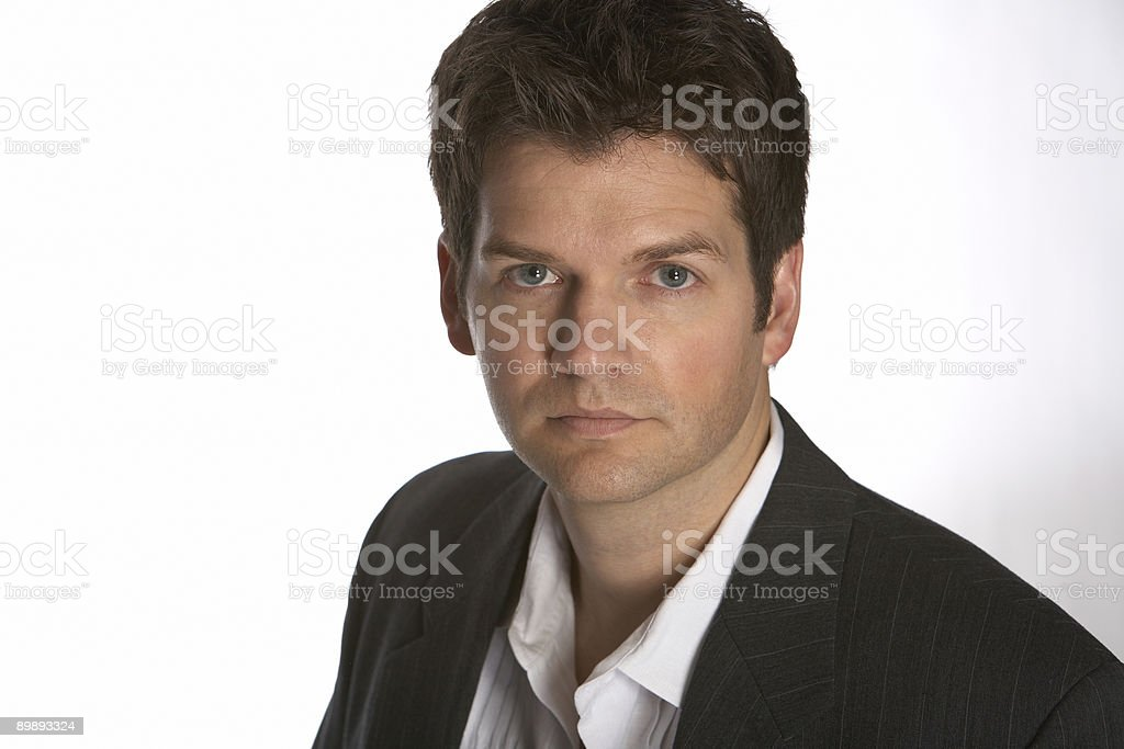Men looking straight at you royalty-free stock photo