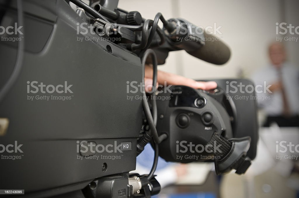 Men on a Camcorder stock photo