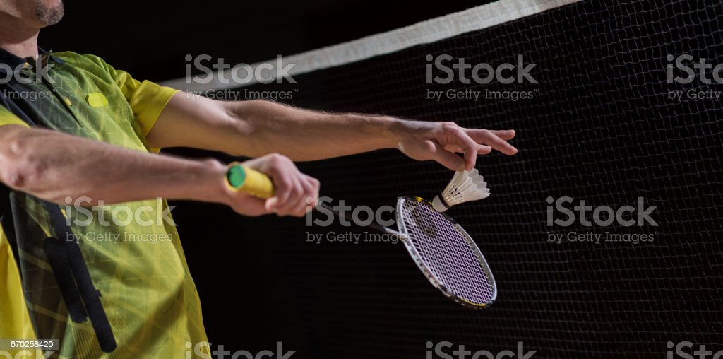 Men Playing Badminton - Photo