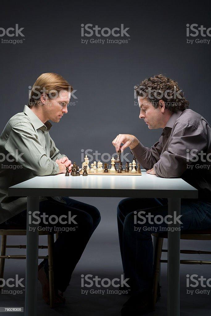 남성용 체스 게임에서 royalty-free 스톡 사진