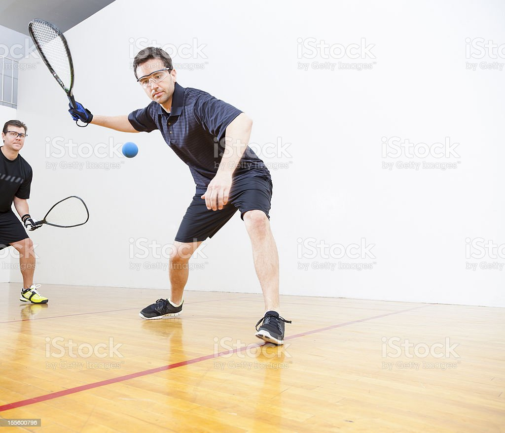 Men Playing Racquetball stock photo