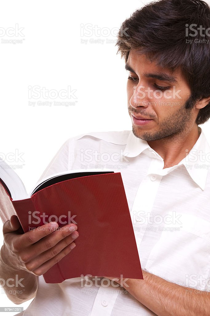 men reading a book royalty-free stock photo