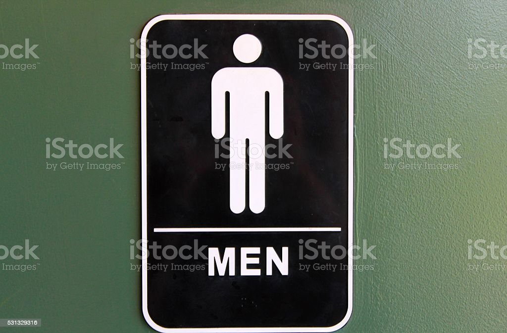 Men Restroom stock photo