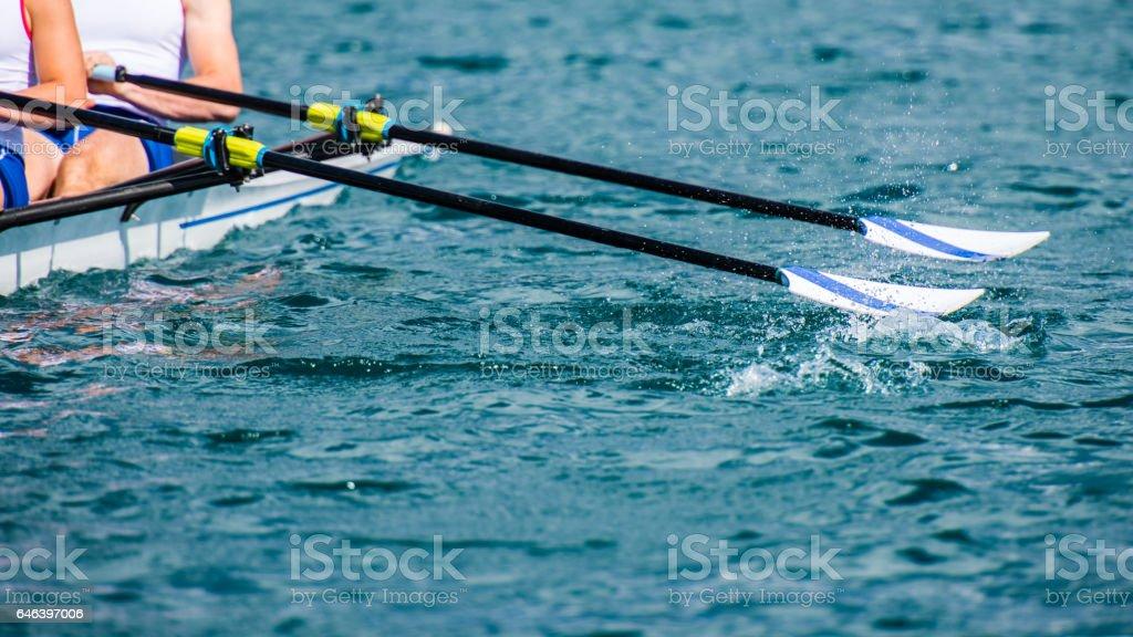 Männer-Ruderboot – Foto