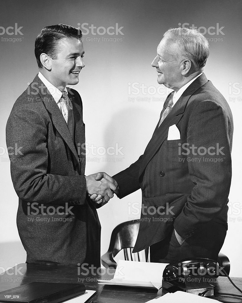 Men shaking hands royalty-free stock photo