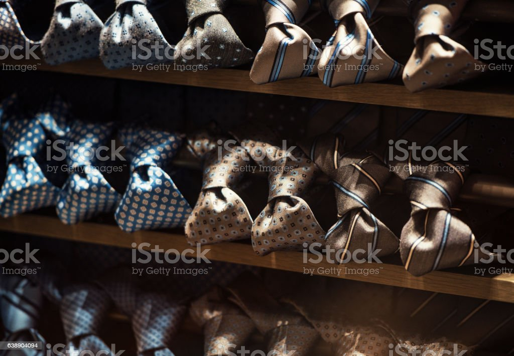 men ties stock photo