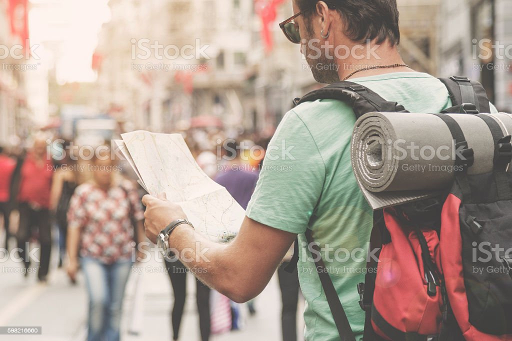 Men traveling in Istanbul foto royalty-free