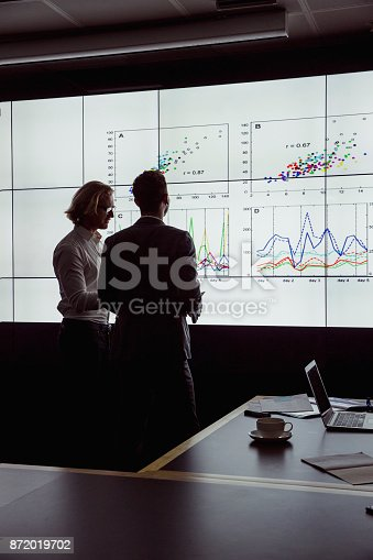 istock Men Viewing an Oversized Computer Screen 872019702