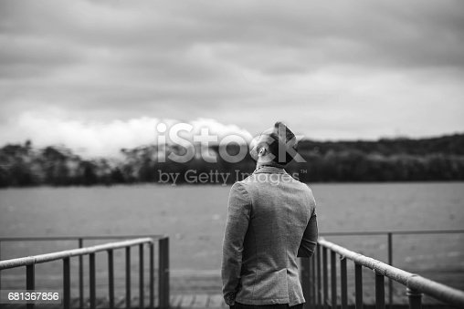 istock Men with beard smoking electronic cigarette outdoor 681367856