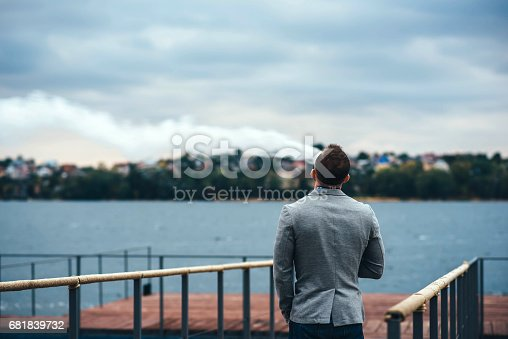 istock Men with beard vaping electronic cigarette 681839732