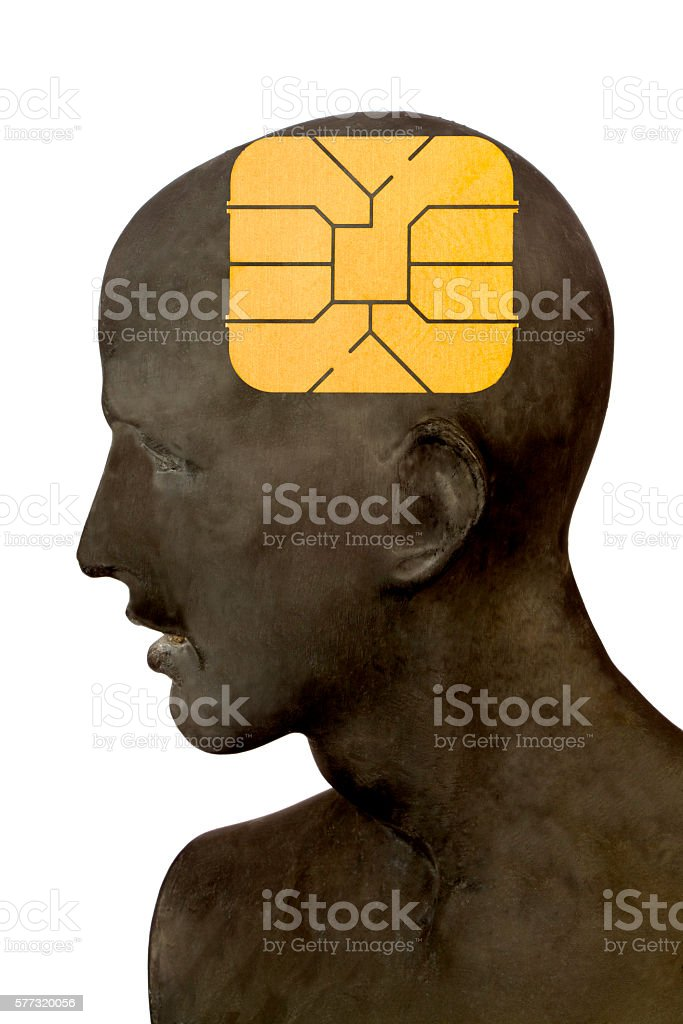 Men with Phone Card stock photo