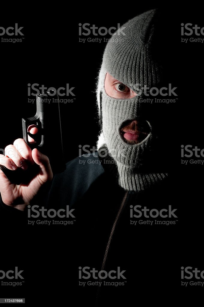 Menacing Criminal Concept royalty-free stock photo