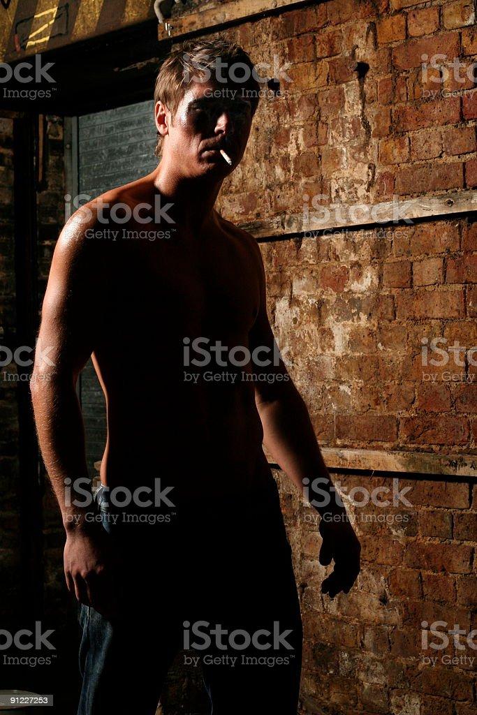 Menacing man stock photo