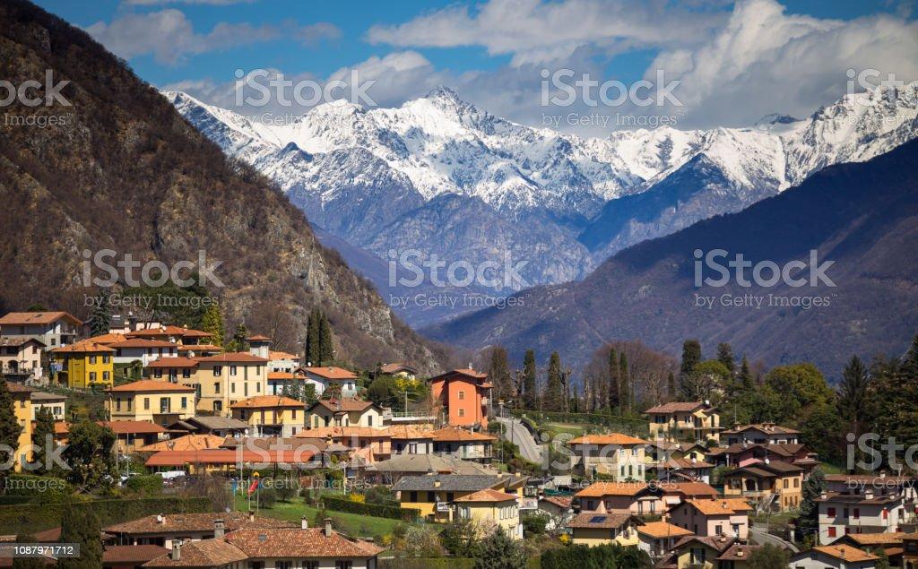 Menaggio, Italy in Winter stock photo