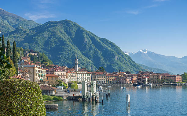 menaggio,lake como,italian lakes,lombardy,italy - lake como stock photos and pictures