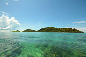 Clear sea and beautiful island