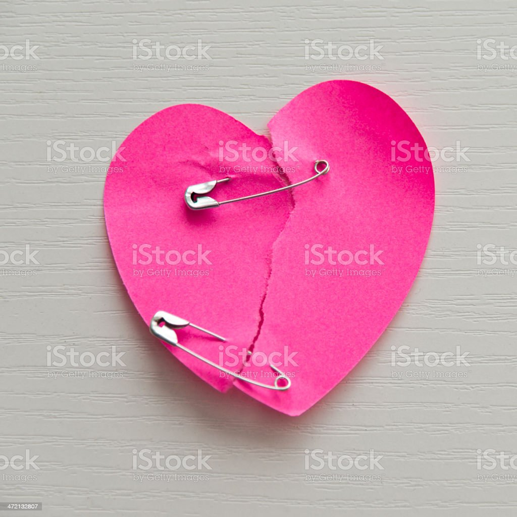 Mend the broken heart stock photo