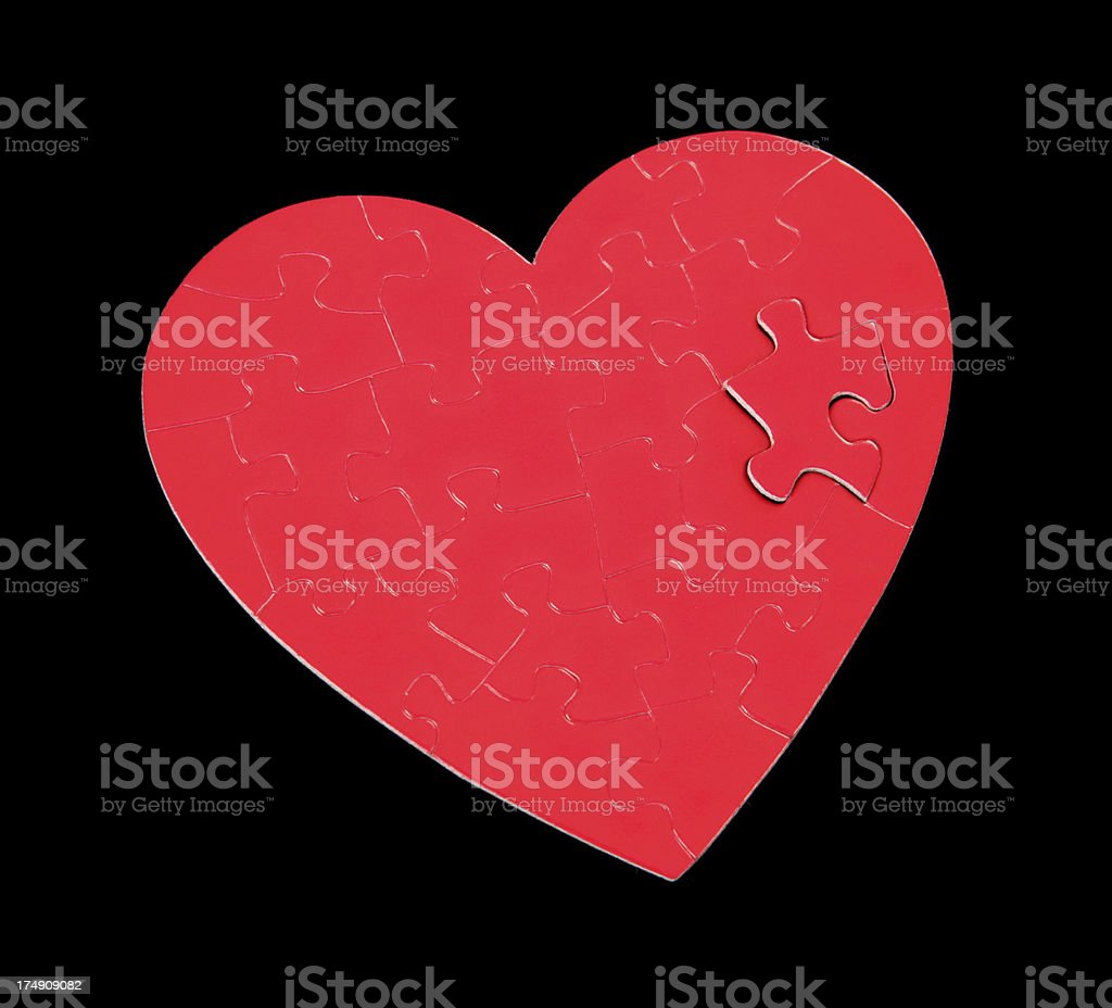 Mended Heart royalty-free stock photo