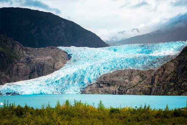 mendenhall 빙하 국립 공원, 주노, 알래스카, 미국 - 빙하 뉴스 사진 이미지