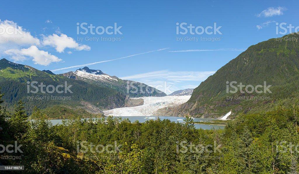 Mendenhall Glacier Panorama stock photo