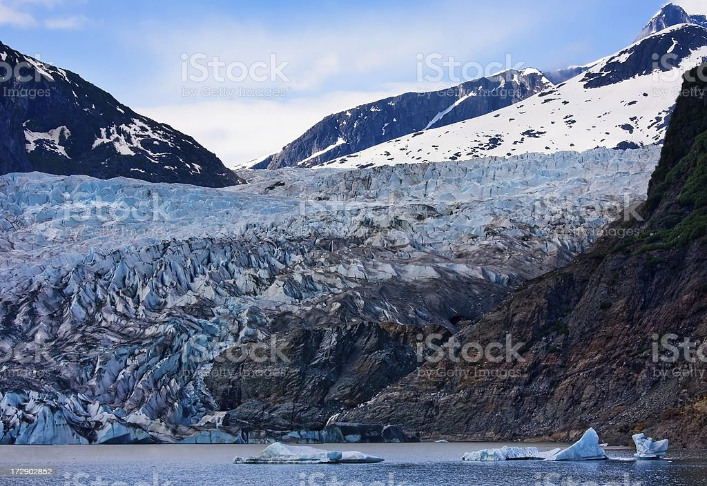 Mendenhall Glacier royalty-free stock photo