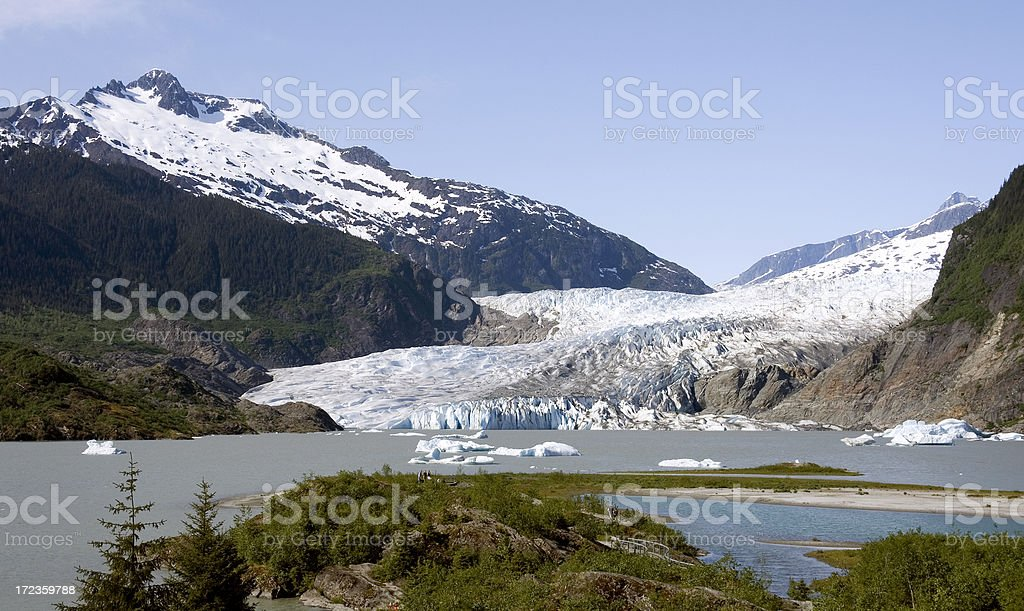 Mendenhall Glacier1 royalty-free stock photo