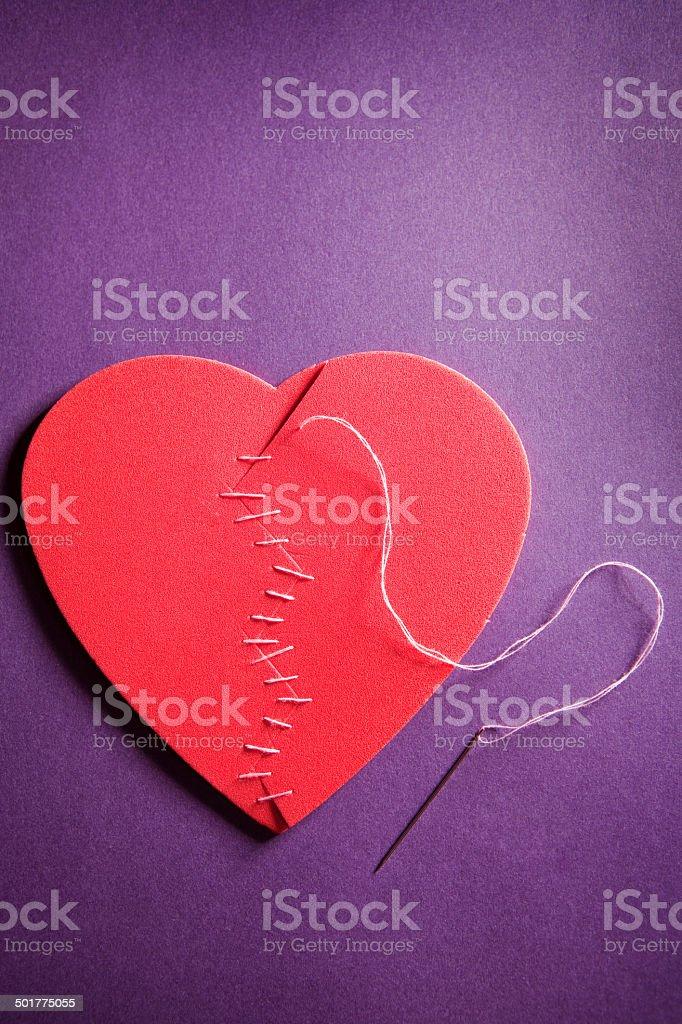 Ausbesserungsdetails ein gebrochenes Herz – Foto