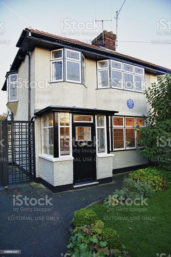 Mendips, childhood home of John Lennon, Liverpool stock photo