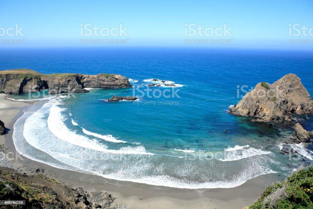 Mendocino coastline, near CA state route 1 stock photo