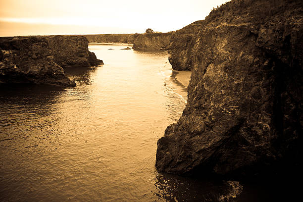 Mendocino Coastline stock photo