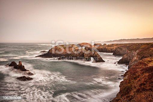 Mendocino Headlands, California, at dawn.