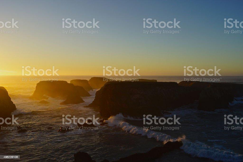 Mendocino Headlands Sunset stock photo