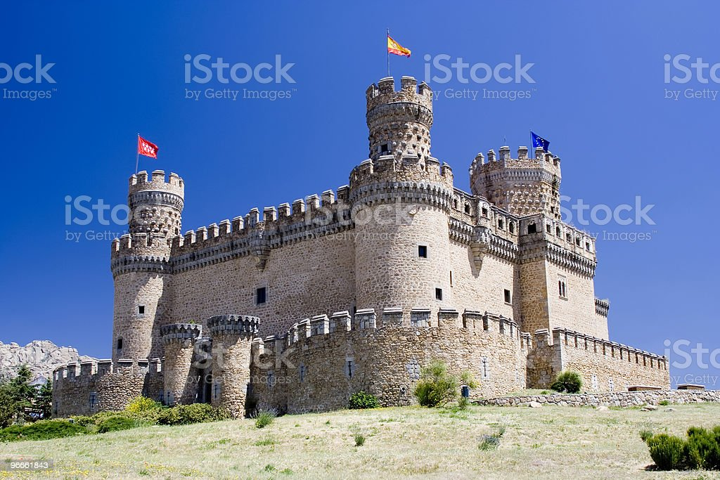 Mendoza Castle stock photo
