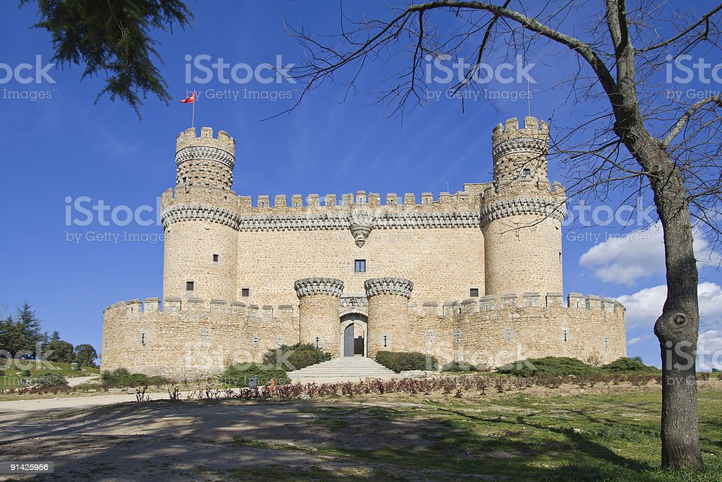 Mendozas Castle stock photo