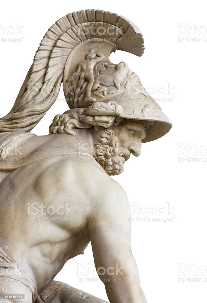 Menelaus isolated on white with clipping path royalty-free stock photo