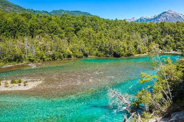 Menendez river, Los Alerces National park in Patagonia, Argentina stock photo