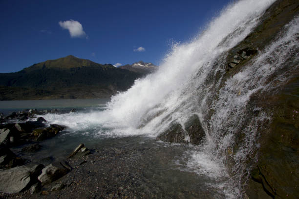 Menenhall Glacier stock photo